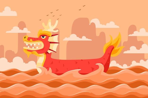Fundo de barco dragão