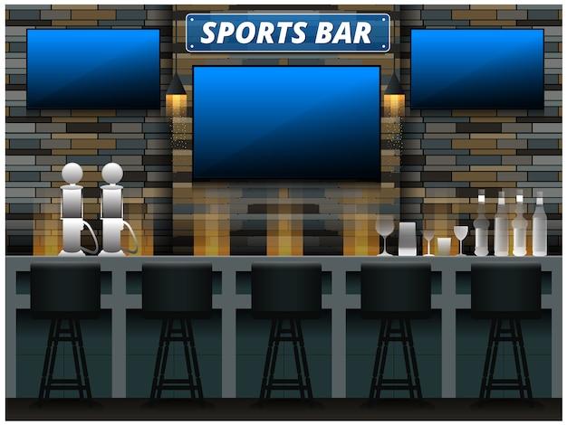 Fundo de barra de esportes modernos
