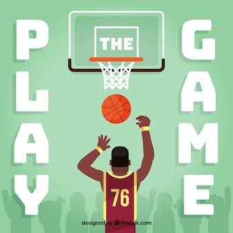 Fundo de basquete com leitor de salto