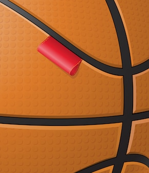 Fundo de basquete com rótulo