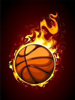 Fundo de basquete desenhado à mão