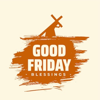 Fundo de bênçãos da sexta-feira santa com jesus carregando uma cruz
