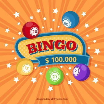 Fundo de bingo com estrelas