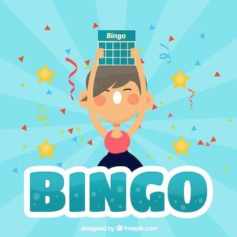 Fundo de bingo gritando menina