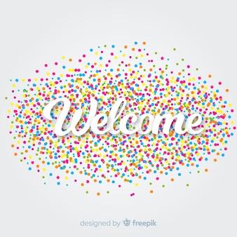 Fundo de boas-vindas
