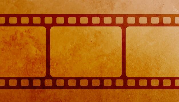 Fundo de bobina de quadro de tira de filme vintage