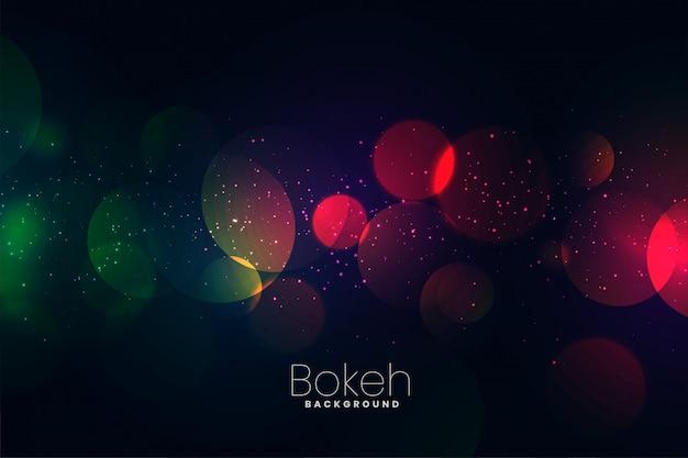 Fundo de bokeh atraente luzes escuras de néon