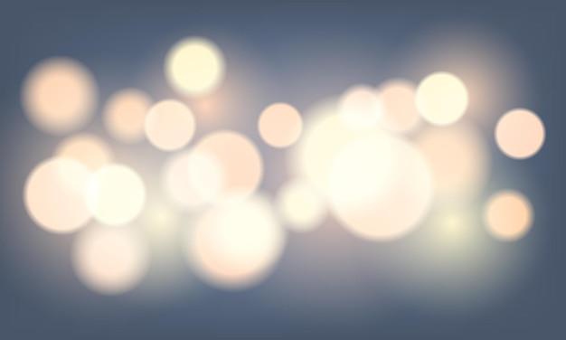 Fundo de bokeh colorido abstrato com luzes e reflexo de lente. ilustração vetorial.