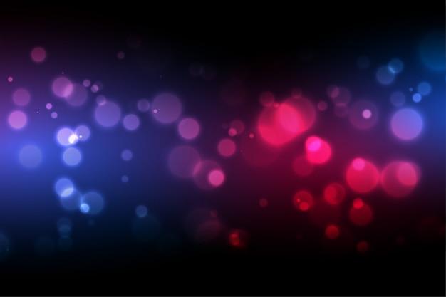 Fundo de bokeh com design de efeito de luz colorido