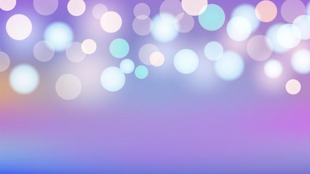 Fundo de bokeh. cores do arco-íris e papel de parede das luzes. modelo de banner de vetor pastel de bebê brilhante. ilustração luz brilhante brilhando, iluminação vibrante colorida desfocada