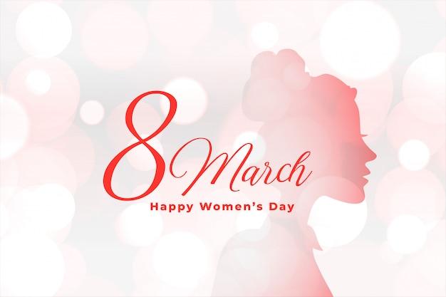 Fundo de bokeh elegante lindo dia feliz das mulheres