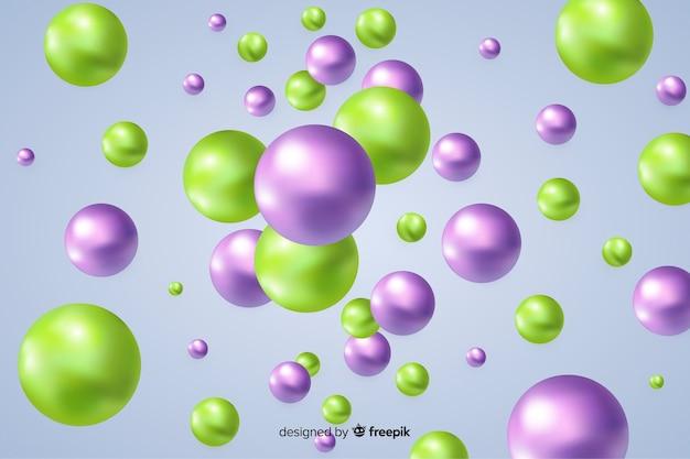 Fundo de bolas brilhantes fluindo