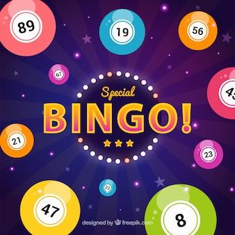 Fundo de bolas de bingo coloridas