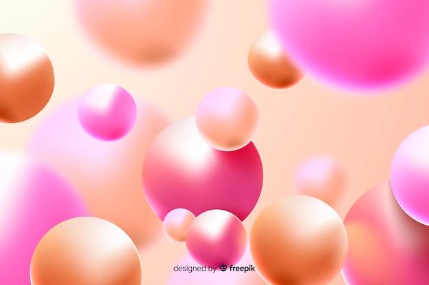 Fundo de bolas de plástico brilhante realista