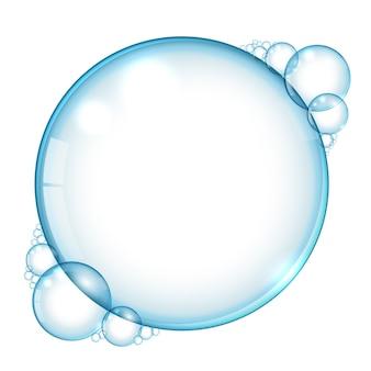 Fundo de bolhas de água com espaço de texto