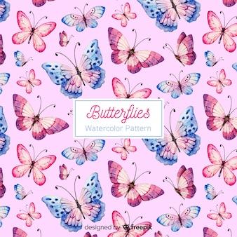 Fundo de borboleta aquarela