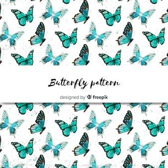 Fundo de borboleta desenhada de mão