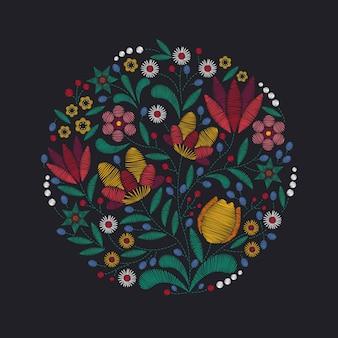 Fundo de bordado floral