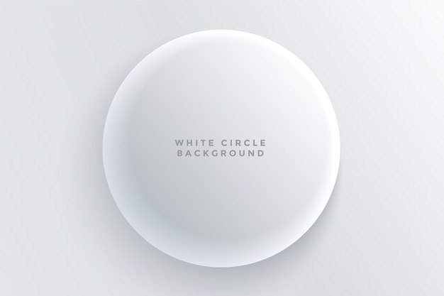 Fundo de botão circular 3d branco realista