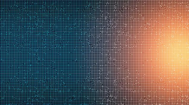 Fundo de bright circuit technology, hi-tech digital e conceito de segurança