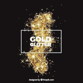 Fundo de brilho em estilo dourado