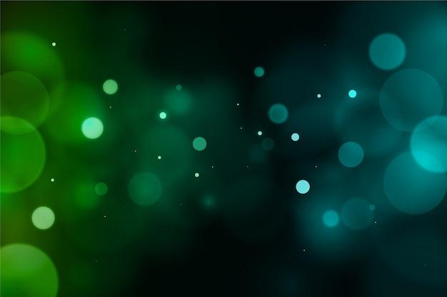 Fundo de brilho embaçado verde bokeh