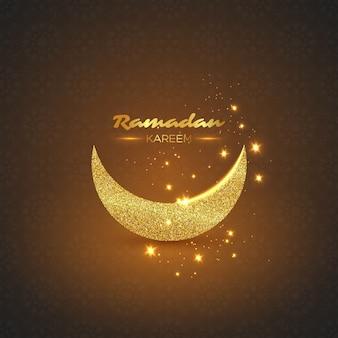 Fundo de brilho ramadan kareem