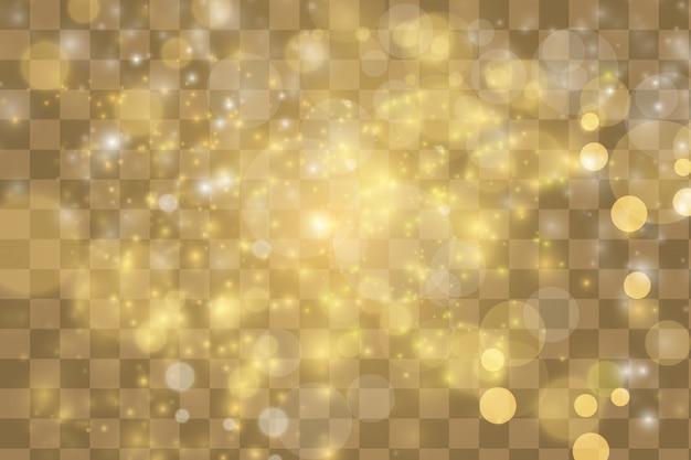 Fundo de brilhos de ouro
