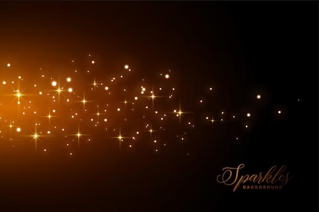 Fundo de brilhos impressionante com efeito de luz dourada