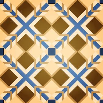 Fundo de brown mosaic square seamless pattern