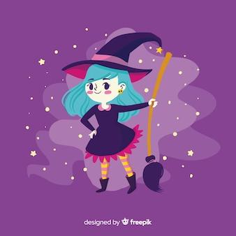 Fundo de bruxa de halloween