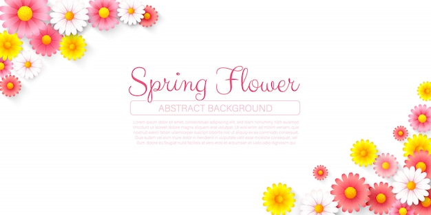 Fundo de buquê de flores de primavera