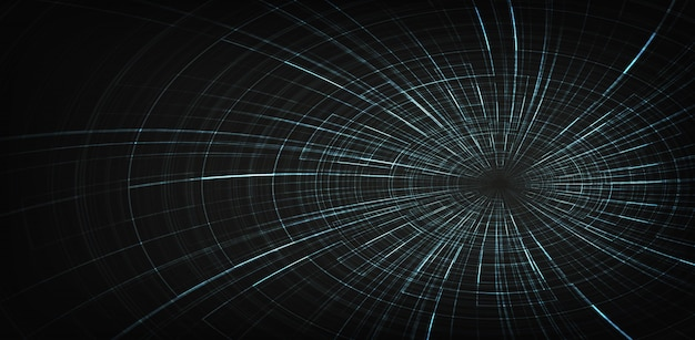 Fundo de buraco negro digital spiral