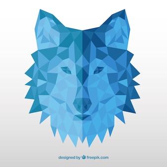 Fundo de cabeça azul poligonal