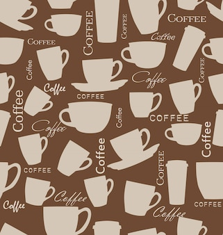 Fundo de café sem costura