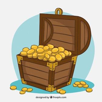 Fundo de caixa de tesouro