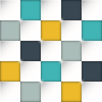 Fundo de caixas de retângulo sem costura com incríveis cores planas
