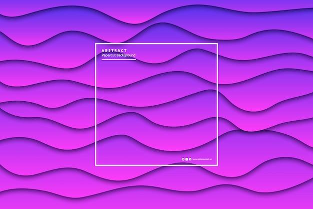 Fundo de camada de corte de papel roxo realista para decoração e cobertura. conceito de abstrato geométrico.