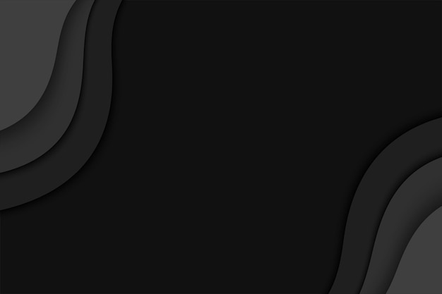 Fundo de camada de papel preto. halloween abstrato com camadas de corte de papel preto.