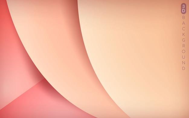 Fundo de camada de sobreposição 3d rosa