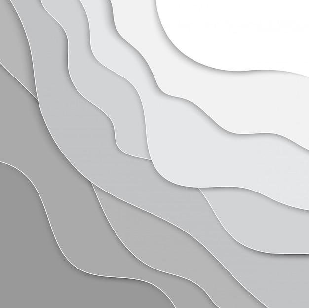 Fundo de camadas 3d papercut