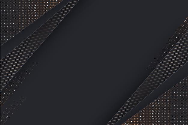 Fundo de camadas de papel com detalhes dourados