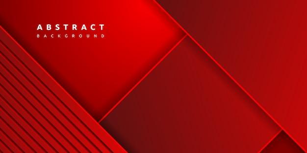 Fundo de camadas de papel vermelho colorido dinâmico