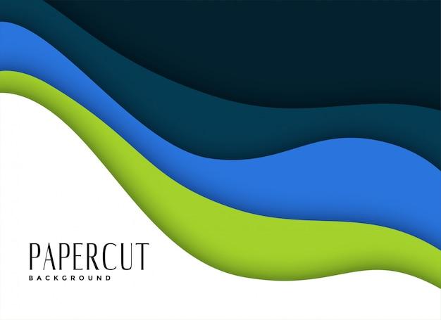 Fundo de camadas de papercut em cores de tema de negócios