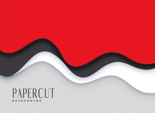 Fundo de camadas de papercut vermelho elegante