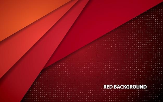 Fundo de camadas de sobreposição abstrato vermelho
