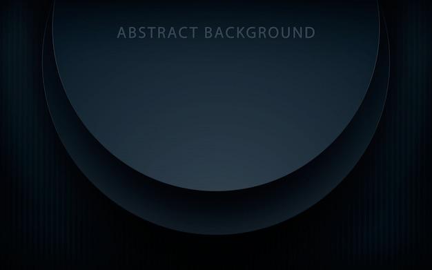 Fundo de camadas de sobreposição de círculo realista preto