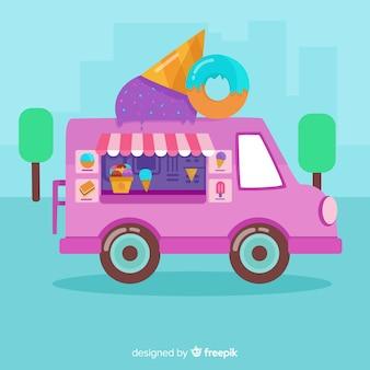 Fundo de caminhão de sorvete