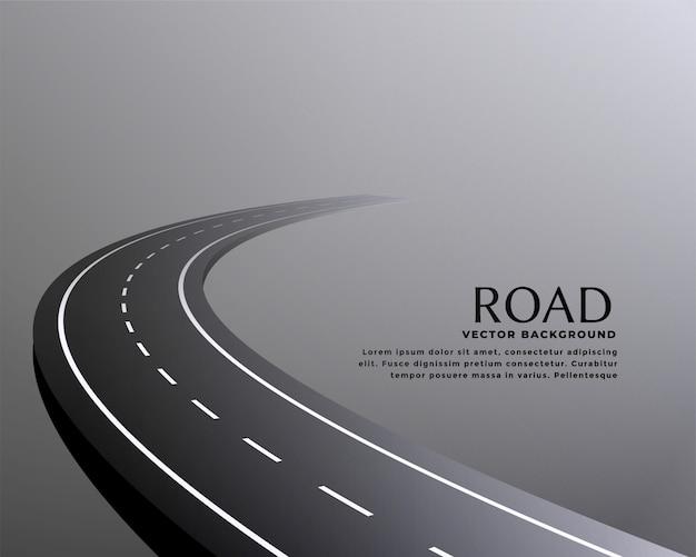 Fundo de caminho de estrada em perspectiva curvo