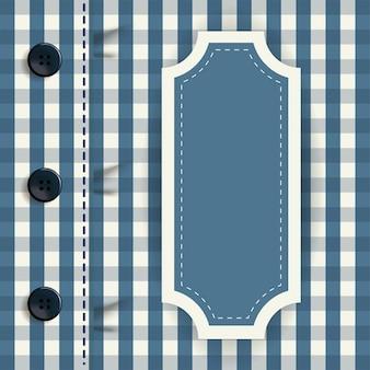 Fundo de camisa quadriculada com moldura de dia dos pais